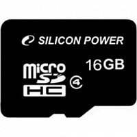 MicroSDHC 16 Gb SILICON POWER class 4 без адаптера