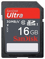 SDHC 16 Gb SANDISK Ultra class 10 UHS-I 40 MB/сек