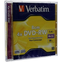 DVD+RW mini 1.4 Gb VERBATIM*4, Jewel