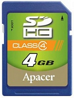 SDHC 4 Gb APACER class 4
