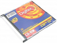 CD-rW mini 210 Mb DIGITEX*4-12 color slim   (5)