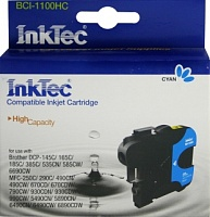 Картридж INKTEC BROTHER LC1100/980/67/65/61/38/DCP-145/385/585/6690/MFC-250/290/790/5490/6490, cyan