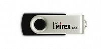 USB-Flash 8 Gb MIREX Swivel Rubber Black складной